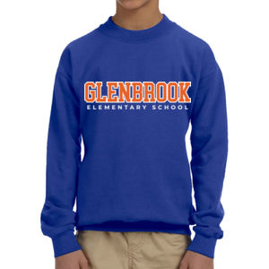 Glenbrook Youth Fleece Crewneck (Blue) Thumbnail