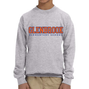 Glenbrook Youth Fleece Crewneck (Grey) Thumbnail