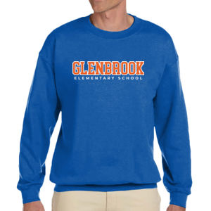 Glenbrook Adult Fleece Crewneck (Blue) Thumbnail