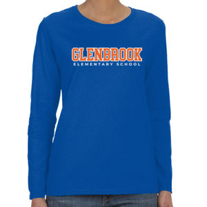 Glenbrook Ladies Long-Sleeve T-Shirt (Blue) Thumbnail